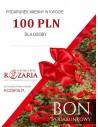 bon podarunkowy na róże 100 zł