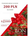 Bon podarunkowy na róże 200 PLN