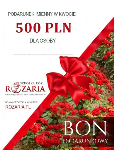 Bon podarunkowy 500 PLN